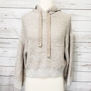 Anthropologie Ruby Moon Cropped Hooded Sweater